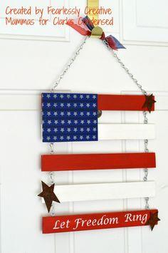 Independence Day Door Flag