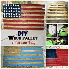 American Flag out of a Wood Pallet