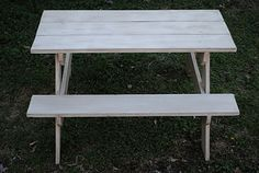 How to Build a Child's Picnic Table