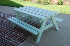 A Picnic Table for the Kids