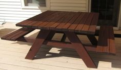 Build a Picnic Table with a 4 ft sq top