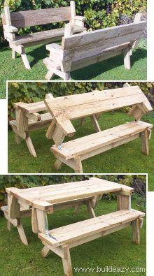 Building a picnic table with detached benches