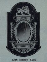 Wooden mirror frame with lion