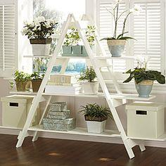 Ladder-style shelving unit