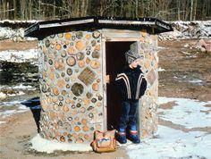 A Child-Built Cordwood Masonry Clubhouse
