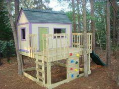 KID'S PLAYHOUSE AND SLIDE