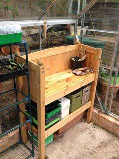 Cabin Bed into a Potting Bench