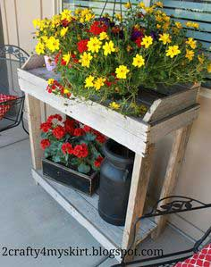 Potting Bench from Old Pallets