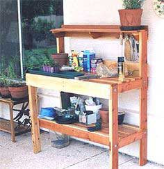 McClure potting bench