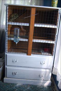Woodworking diy rabbit cage dresser plans pdf download for Rabbit cage made out of dresser
