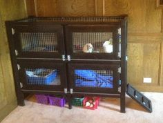 TWO STORY RABBIT HUTCH