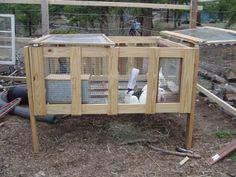 Making Yet Another Rabbit Hutch Out of a Pallet Crate