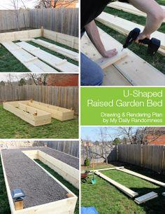 U-Shaped Raised Garden