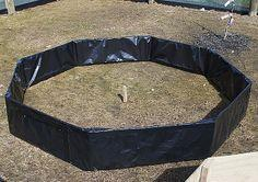 Octagonal raised garden bed