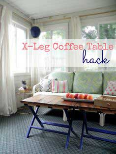 X-Leg Coffee Table tutorial