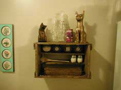 Turn an Antique Crate into a Neat Shelf