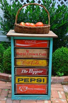 DIY Vintage Soda Crate Chest