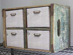 Make a Storage Cubby from an Old Crate
