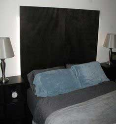Headboard made from 2 Doors with back lighting