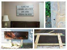 Repurposed Door Headboard