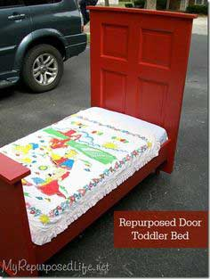 How to make a toddler bed from an old door