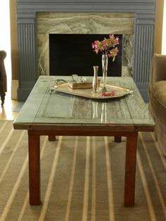 Learn how to create a new coffee table using an old door