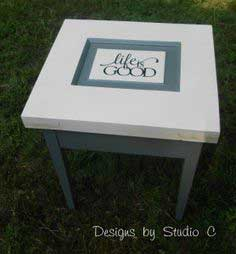 How to Make a Side Table with Parts from an Old Door