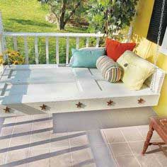 Door to Hanging Daybed