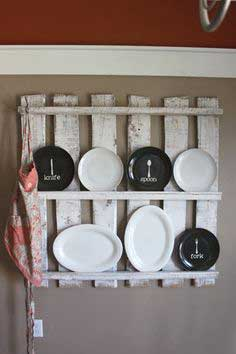Wooden pallet kitchen display
