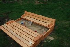 Sand box with seats