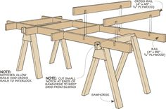Knock-Down Sawhorse