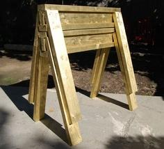 Build DIY Gold Sawhorses