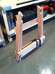 Build Angled Wooden Sawhorses