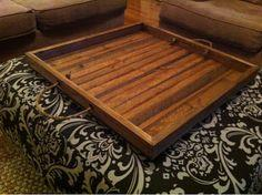 Simple Wooden Tray for Ottoman