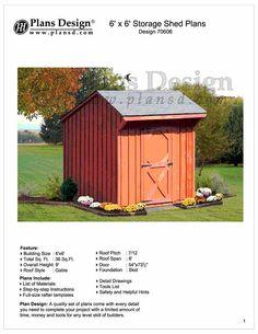 Free 6 x 6 Saltbox Shed Plans