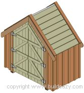 Narrow backyard shed