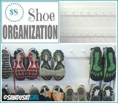 Easy Entry Organization with Shoe Pegs