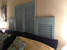 DIY: Repurposed Shutter Headboard