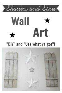 DIY Wall Art Solution: Shutters and Stars