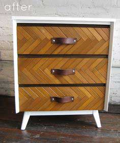 shutter wood embellished dresser - tutorial