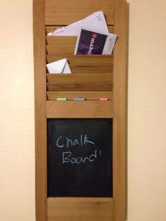 Shutter Organizer with Chalk Board tutorial