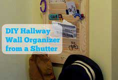 DIY shutter wall organizer tutorial