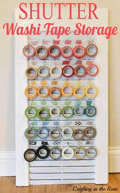 Shutter Washi Tape Organizer tutorial