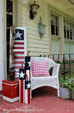 turn an old shutter into a fun 4th of july decoration, patriotic decor ideas, seasonal holiday decor