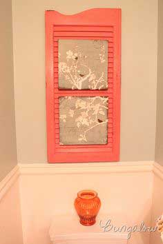 orange shutter repurpose tutorial