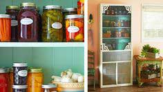Kitchen pantry with spice rack