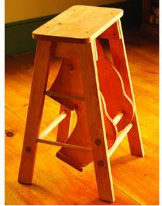 Fold up Pine-Stepping Stool