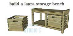 Build a Laura Storage Bench