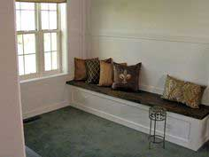 Built-In Bench With Butcher-Block