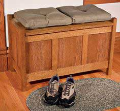 Arts and Crafts Storage Bench